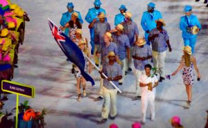 Forbes was the Cayman Islands flag bearer at the opening ceremony.
