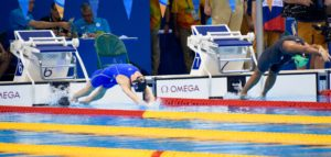 Lara Butler set a NR in the 100m backstroke