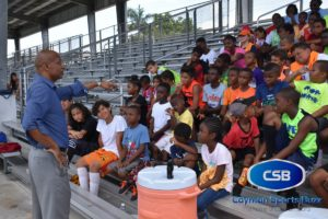 CIFA President Lee Ramoon speaks to the boys and girls.