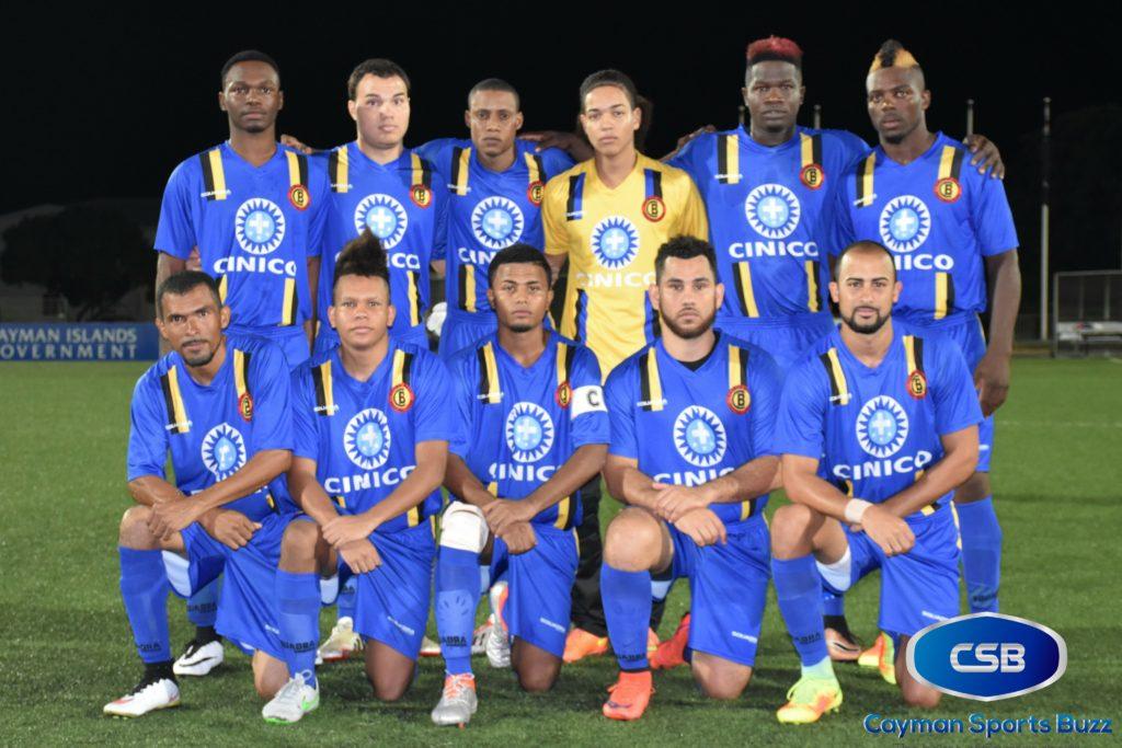 Cayman Brac FC starters.