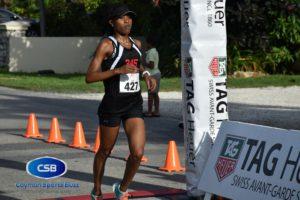 Tiffany Cole won the women's race.
