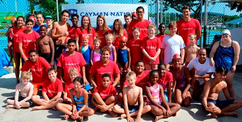 """Stingray's Senior and Gold swimmers were """"Bigs"""" to some of the club's youngest and newest """"Littles"""" – helping them navigate the competitive meet set up and learning a little about leadership and mentoring at the same time."""