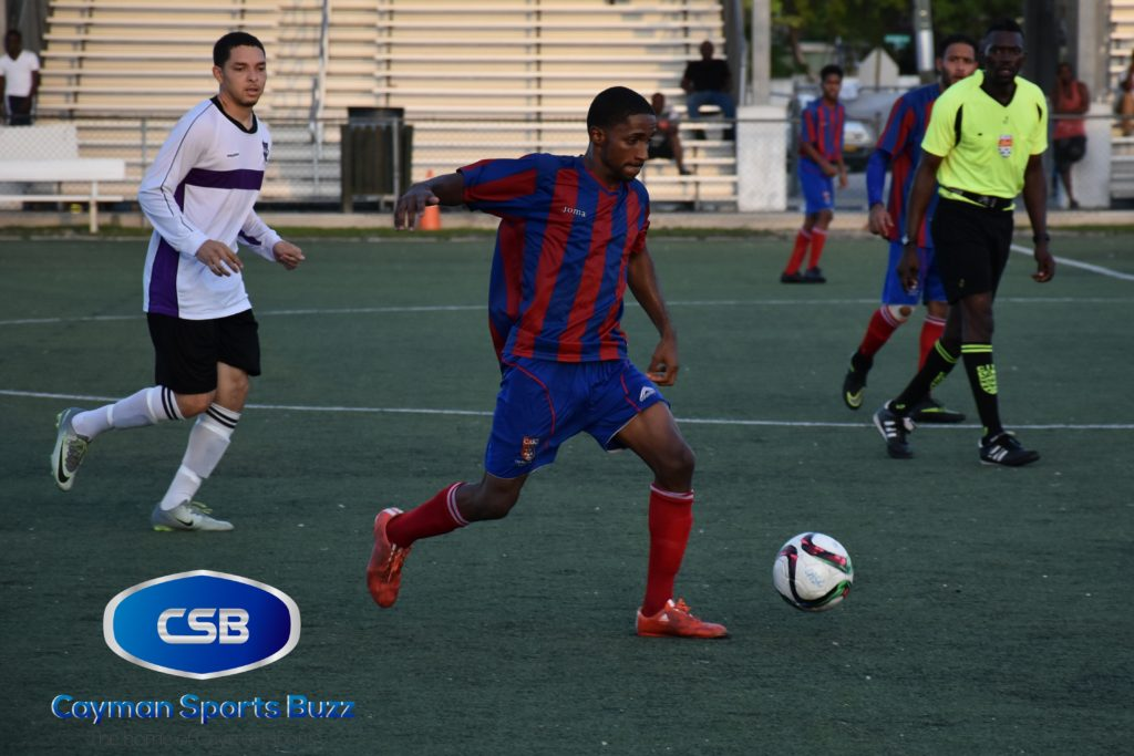 Jorronie McLean scored for Cayman Athletic.
