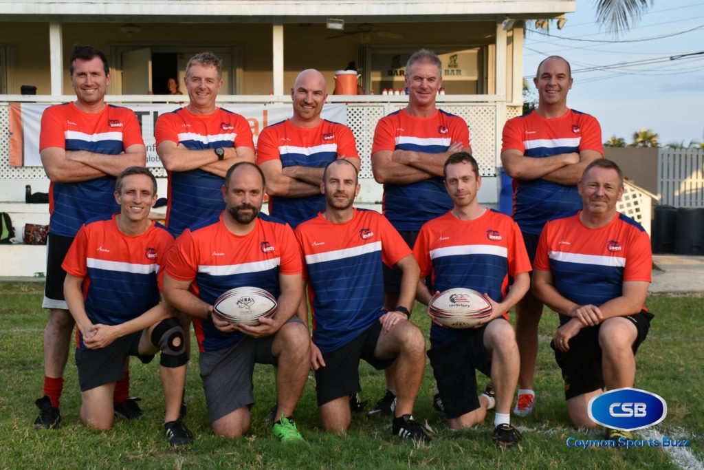 Cayman Islands Men's Over 40 Touch Rugby team.