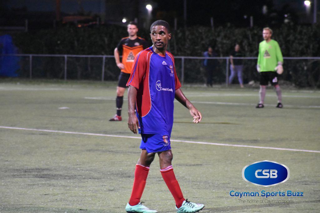 Jorronie McLean scored for Cayman Athletic.
