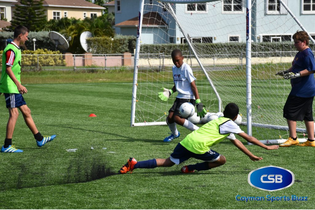 Young keepers got their skills tested at the clinic.
