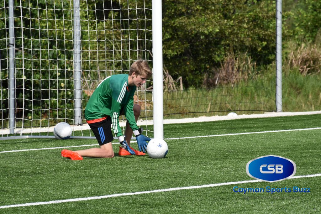 Finn Millward is one of the two regular keepers.
