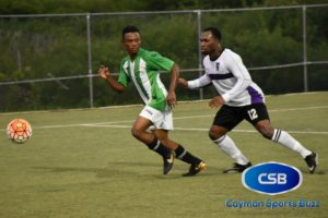 Rodriguez (green and white) scored for Elite.