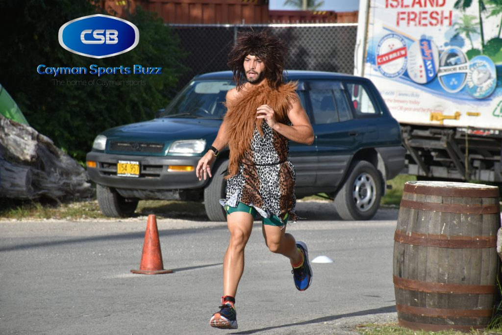 Testori showed up as a caveman but there was nothing prehistoric about his running.