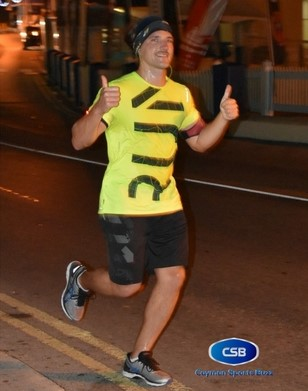 This runner was clearly enjoying himself.
