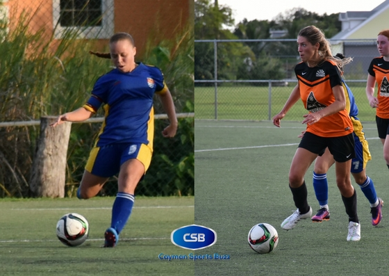 Jetena Bodden (Scholars) and Carly Dingham (Sunset) scored in the draw. (FILE)