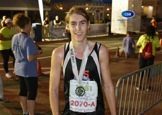 Half marathon winner, Dominic Dyer.