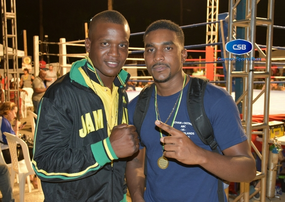 Ian Darby and Dariel Ebanks catch up in Kingston. They eventually met in the ring in Barbados.