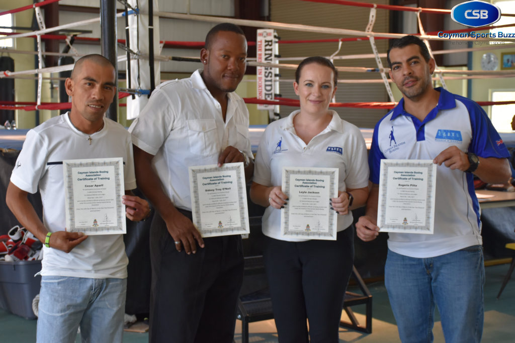 Trained boxing officials