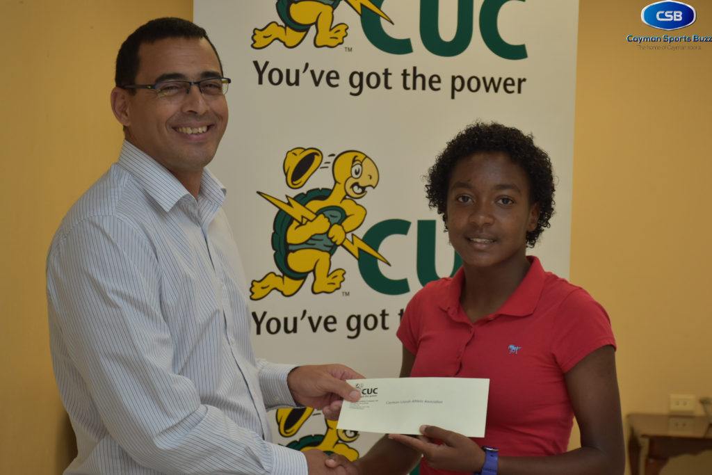 CUC cheque – Hew presents to Graham