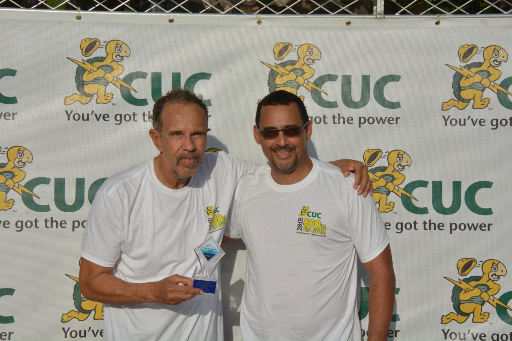2019 CUC Sea Swim Frank Flowers and Richard Hew