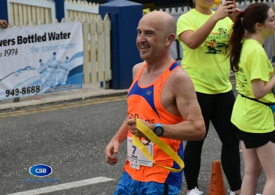 Steve Speirs wins the marathon.